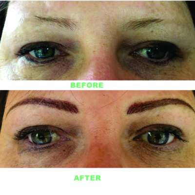 Brows Before and After Permanent Makeup
