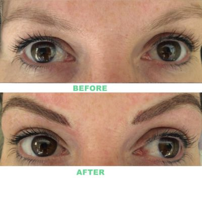 Eyebrows Tatoo Before and After Permanent Makeup